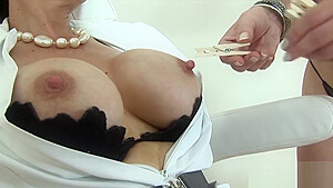 Adulterous british milf lady sonia flaunts her huge naturals