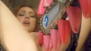 Crazy fetish porn video with horny pornstar Alexa Raye from Fuckingmachines