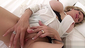 Unfaithful british milf lady sonia pops out her large balloons