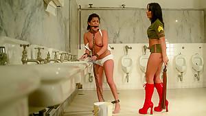 Fabulous brunette, fetish sex movie with amazing pornstars Sandra Romain and Michele Avanti from Whippedass