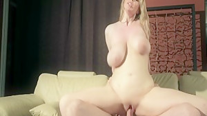 Crazy pornstar Athena Pleasures in amazing blonde, cumshots adult clip