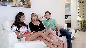 Amber Chase intimidates Claire Black with her sexuality
