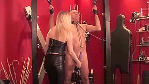 English femdom clamping bound subject-