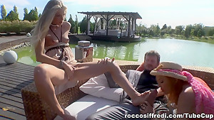 Hottest pornstars Rocco Siffredi, Cayenne Klein in Incredible Pornstars, Anal sex video