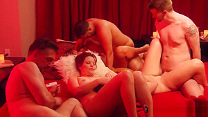 Anna and Jordan meet up with different horny swingers for a full swap-