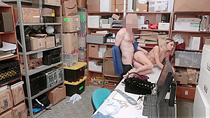 Security Guard recovers the stolen item and fucks Emma Hix tight pussy