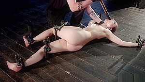 Small tits slave anal toyed in bondage-