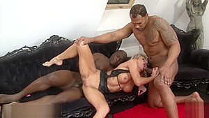 Cathie Milf Cathie Getting A Hard Double Penetration Interracial Fuck In