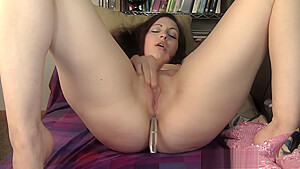 Fucking Sexy Brunette with Pierced Nips has Strong Orgasm-