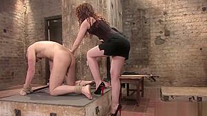 Cute Domina in a lusty Femdom porn-