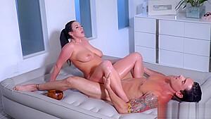 MILF with big tits massage a bad guys big hard cock