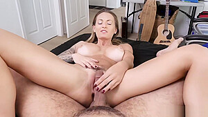 Horny stepmom Natasha Starr enjoys a wild dick ride