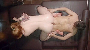 Ginger Sensual Full Body Oil Massage - Redhead Teen Perfect Body Rubbing