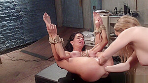 Milf domme dp fisting busty slave