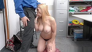 MILF Sarah fights with officer Marcus but later on submit herself for her not to go to jail