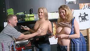 Sexy Ladies Convinced To Flash Boobies For Some Money Segment