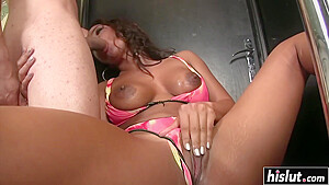 Stiff cock is all she needs