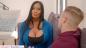 Sybil is a hot brunette milf with big tits, who likes to have casual sex with Nathan
