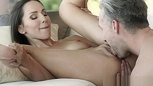 Slender babe eaten out and pounded