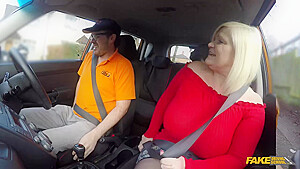 Lacey Starr Is A Big Titted Blonde Mature Who Likes To Fuck Men Even In The Car
