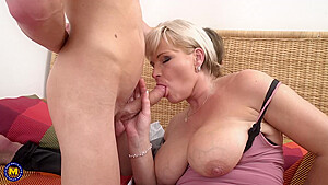 Mature Blonde Woman Margaux Likes To Have Casual Sex With A Younger Guy She Likes