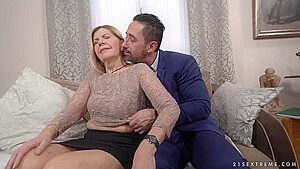 Mature Blonde Woman Samantha And A Handsome Business Guy Mugur Are Fucking In Her Living Room