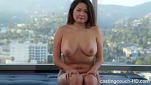 Cute Asian tastes a black guy