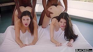 Lana and Leah Gotti with horny blacks
