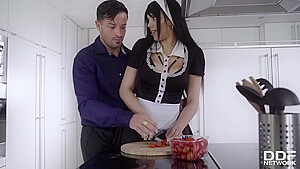 Katrina Moreno is a big titted maid who likes to have sex more than doing her job