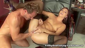 Crazy pornstars in Incredible Anal, Stockings xxx movie