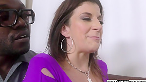 Mom Sara Jay gets fucked by three big black cocks