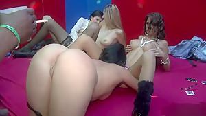 Horny pornstars Cindy Dollar, Rihanna Samuel and Valentine Rush in hottest interracial, group sex xxx movie