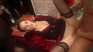 Incredible pornstars Carla Cox, Federica Hill and Alexa Bold in horny black and ebony, lingerie sex movie