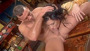 Fabulous pornstars Sylvia Diamond, Veronica Sanchez and Sabina Blue in incredible big tits, blonde sex clip