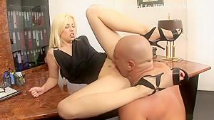 Hottest pornstar Jessie Volt in horny facial, blonde sex scene