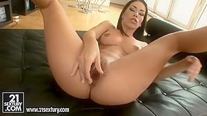 Mya Diamond is back for more hot masturbation