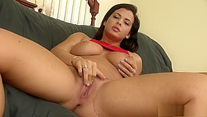 Sexy Keisha Grey and her great boobs eats dick and fucks on the casting couch