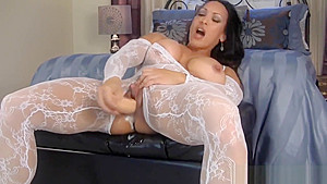 Denise Masino masturbating with a dildo