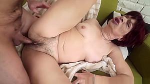Old Granny Gets Oral Sex