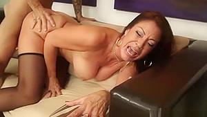 Pretty busty experienced woman Vanessa Videl attending in beautiful foot fetish performance