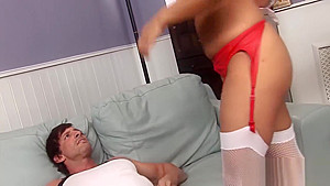 Busty Raven-haired Nurse Rides A Stiff Dong