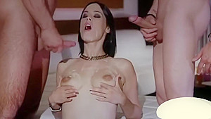 Claire Castel cum in mouth and facial compilation