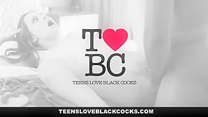 TeensLoveBlackCocks - Busty Karlee Grey Worships Monster Black Cock