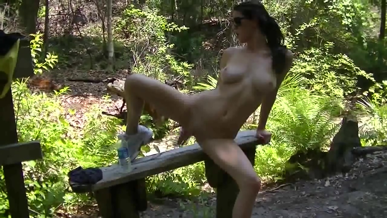 AmberHahn on the park bench