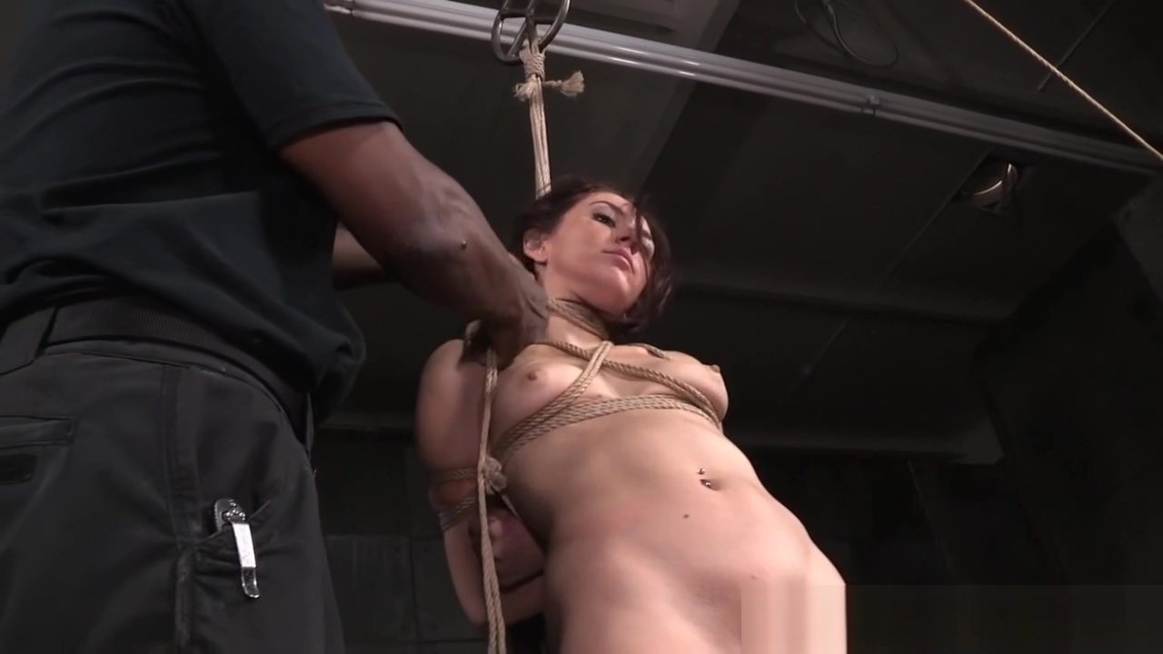 Tattooed bdsm sub tied up and pussy rubbed Sex after the shower
