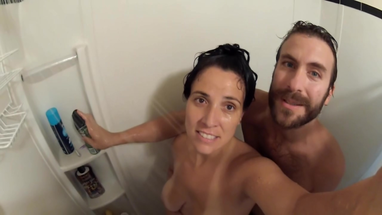 Soapy Handjob & Doggie Fuck, in the Shower. Closeup Go-Pro POV! Nude girl dances and gets naked