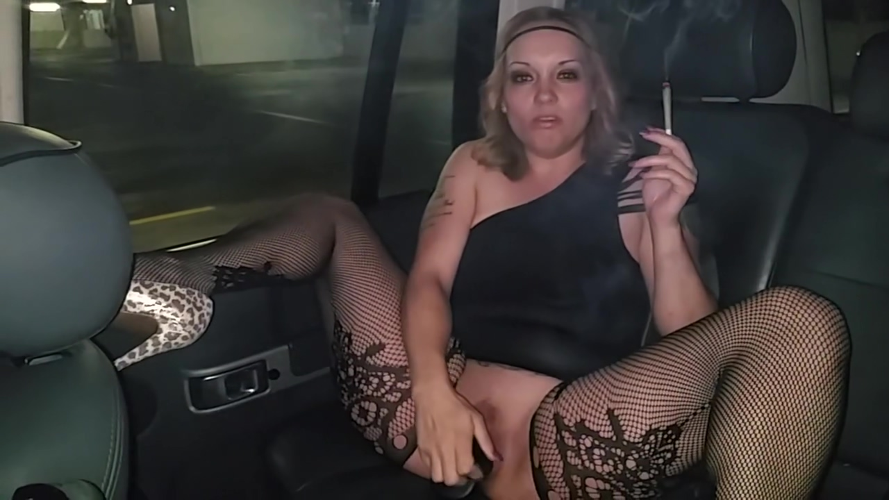 Hotboxing Smoking Solo big tits cum hard