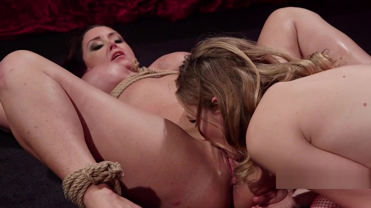 Big ass tied up busty sub spanked