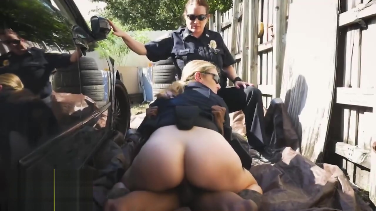 Busty cop destroyed with black cock sopping wet from her own mouth great footjob