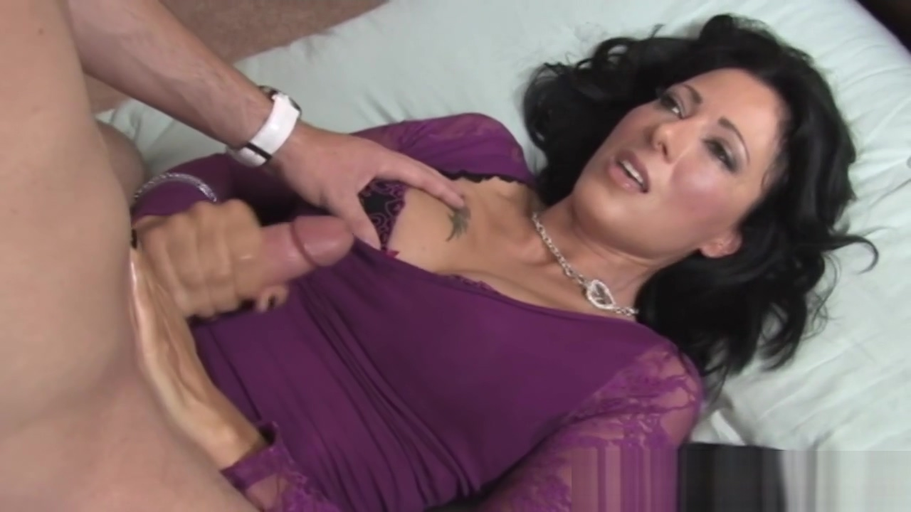 Glamcore milf jerking dick passionately milf mother sucking son